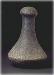 hawaiian adze. the poi pounder rates as one of two most valuable hawaiian stone implements. other being adze. adze